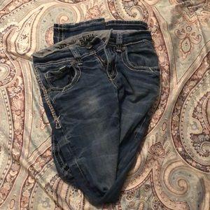 Men's Buckle Black Jeans